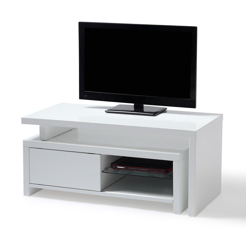 meuble tv avec caisson amovible blanc