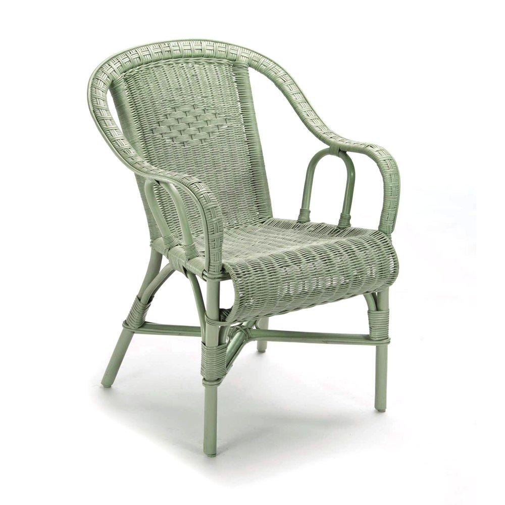 fauteuil crapaud 57x62x84 cm en rotin gris moritz