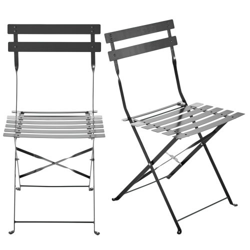 black metal folding garden chairs lawn home depot 2 in yellow confetti maisons du monde taupe