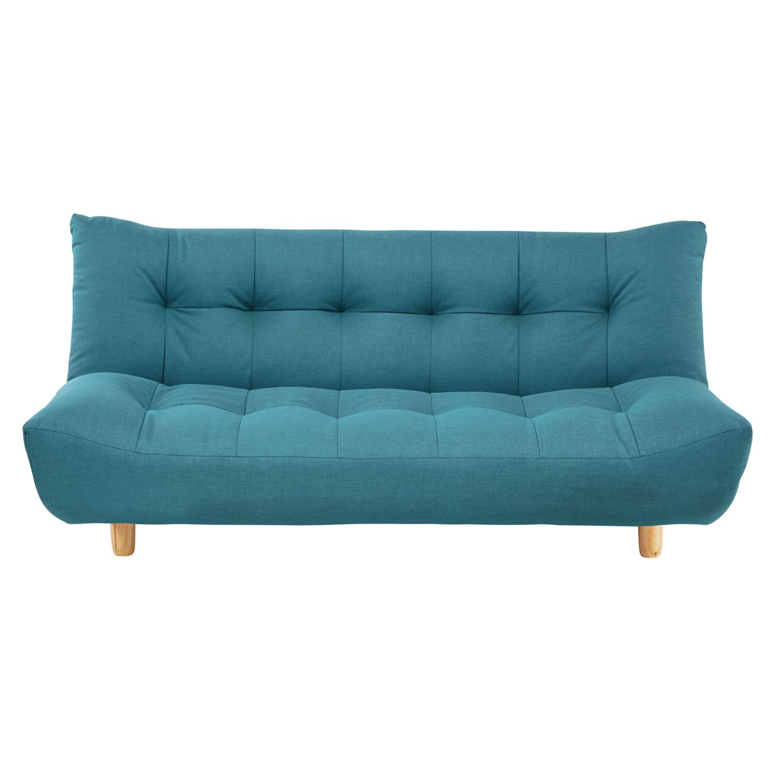 clic clac sofa bed large double deep sectional 3 seater in turquoise blue maisons du
