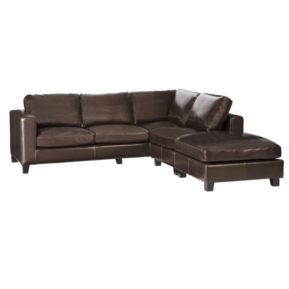 large square corner sofa black n grey 5 seater split leather in chocolate kennedy 1 397 00