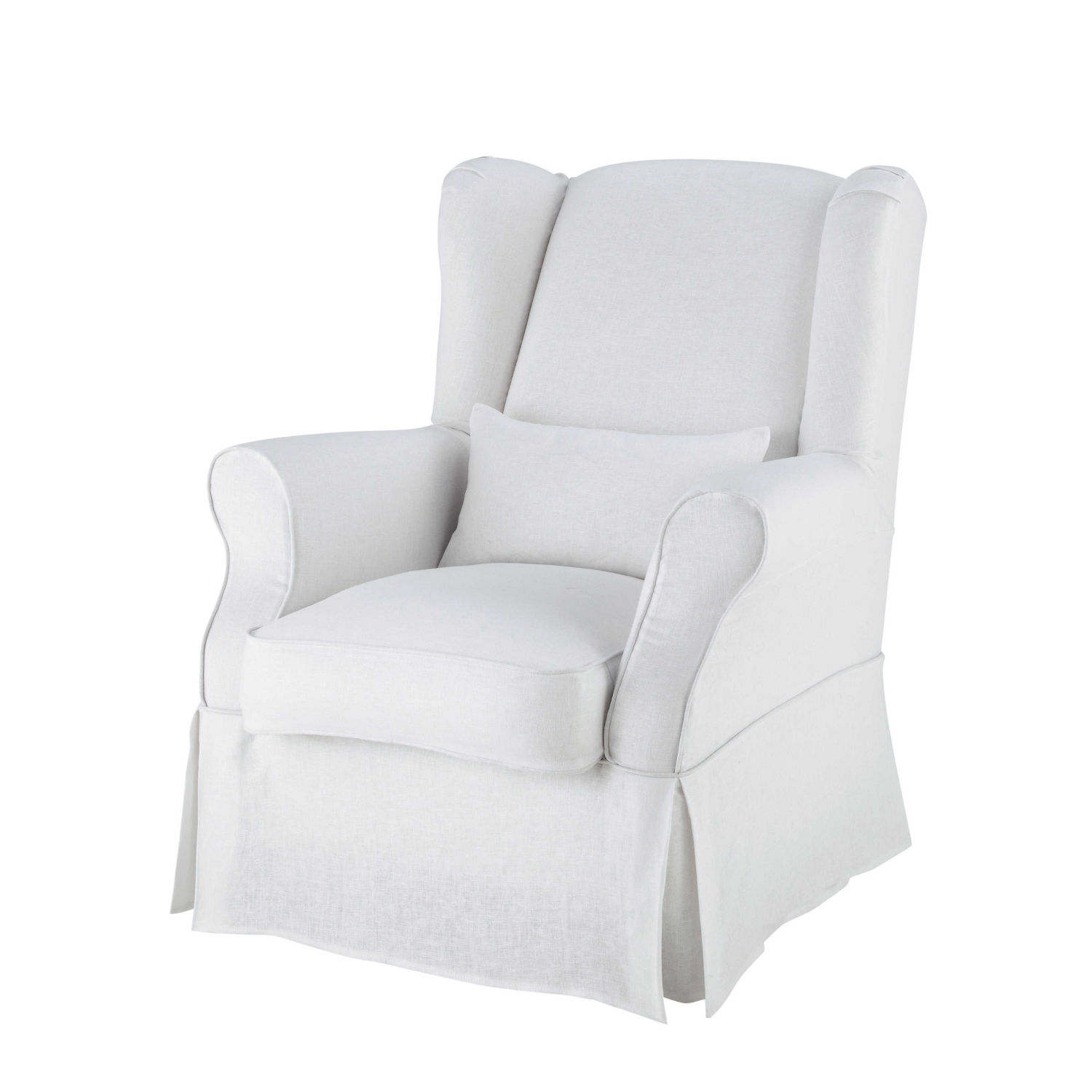 white armchair cover where to buy chair covers for metal folding chairs linen in maisons du monde