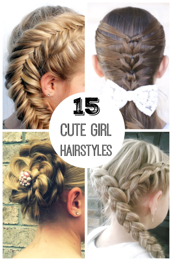 15 Cute Girl Hairstyles From Ordinary To Awesome Make And Takes