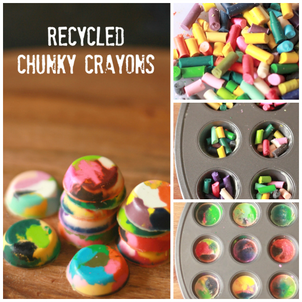 Get Coloring With Recycled Chunky Crayons Make And Takes