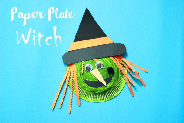 Fun Paper Plate Witch Halloween Craft