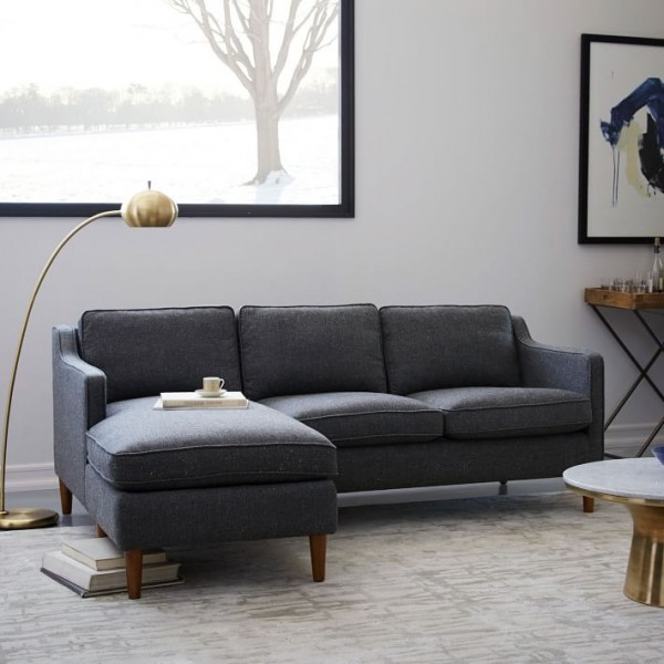 sofas for small es sofa cama carrefour dakar best and couches spaces 9 stylish options a hamilton upholstered chaise sectional from west elm is one of the