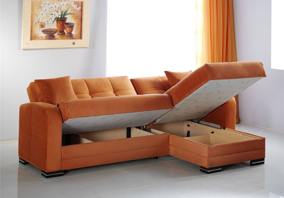 best sectional sofas for the money leather high back and couches small spaces 9 stylish options a rainbow orange with storage by istikbal kubo