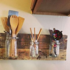 Kitchen Tool Holder Towel Hanging Ideas 48 Storage Hacks And Solutions For Your Home Creative Hack Mason Jar Utensil Floating Shelf