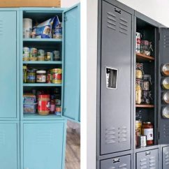 Cheap Kitchen Storage Best Stainless Steel Sinks 48 Hacks And Solutions For Your Home Organization School Lockers Turned Into Pantries