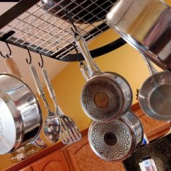 Pot Racks For Kitchen Units 11 Clever And Easy Organization Ideas You Ll Love Hanging Rack Attached To Ceiling