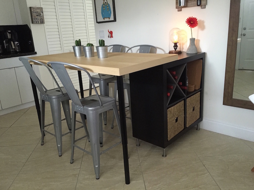 kitchen island table ikea grey cabinet ideas 12 best hacks and for every room in your home kallax shelf unit lack
