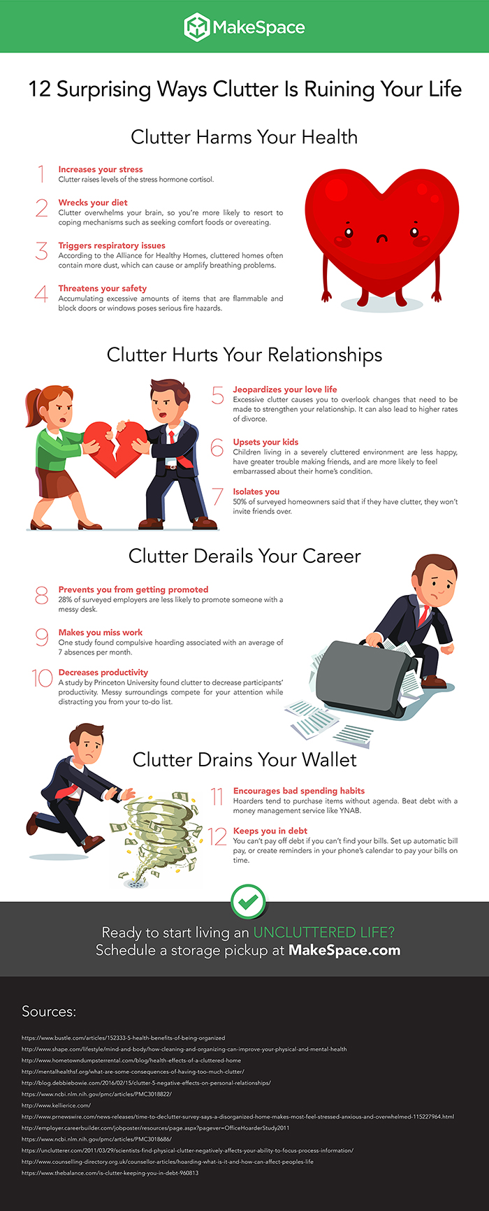 Clutter Infographic by MakeSpace