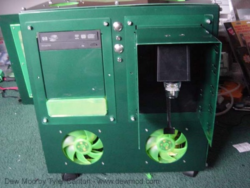Front Of Dew Mod With Fountain Attached Sans Fan Grills