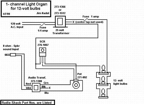 DIY Circuit - 1-Channel Light Organ for 12V Bulbs | Make: