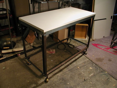 How To Build A Workbench Cart From Bed Frame Angle Iron