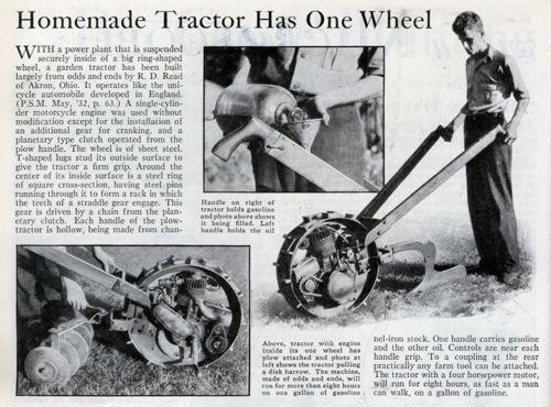 Lrg One Wheel Tractor