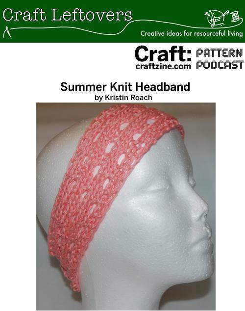 Podcast Craftleftovers Headband