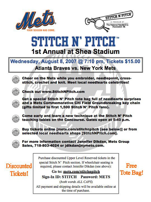 Stitch N Pitch Mets Flyer 2007
