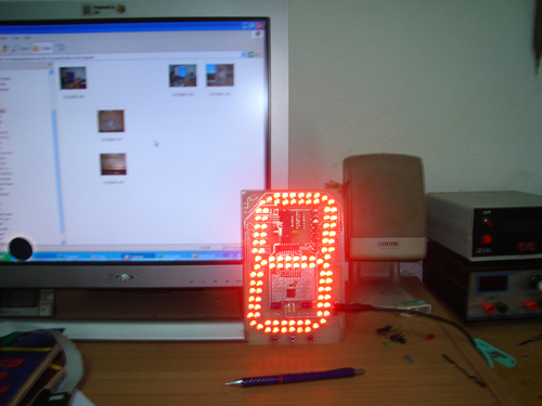 Seven-segment big LED display