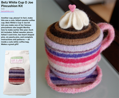 Betzwhite Cupojoepincushion