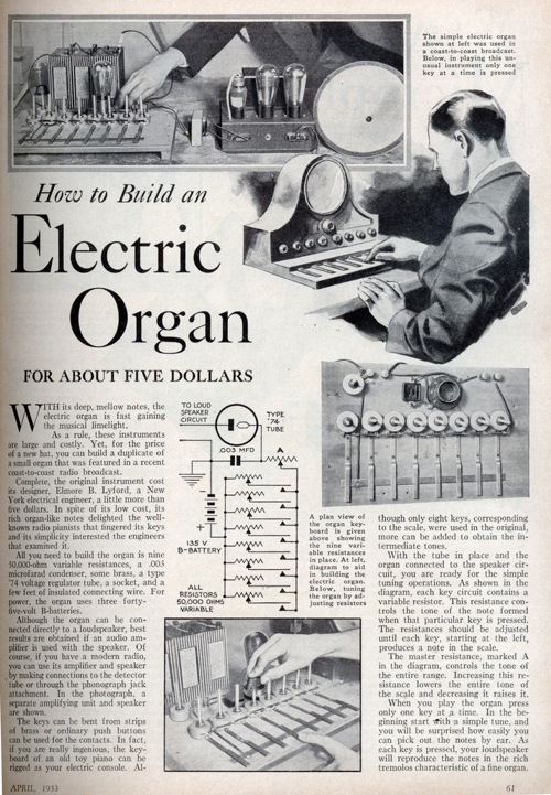 Build an electric organ