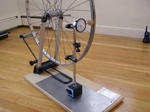 How To Make A Dial Gauge Bicycle Wheel Building Stand