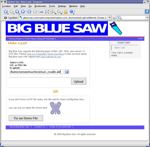 Users Pt Desktop Building-The-Razr-Cradle-With-Big-Blue-Saw Images Snapshot-Bluesaw-Upload1
