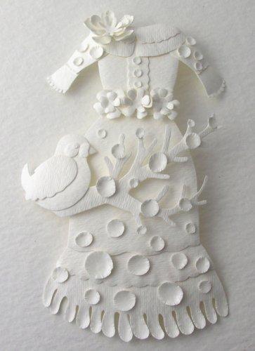 elsa's paper dress and bird