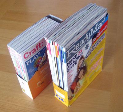 Diy cereal magazine box holders make for Diy magazine box