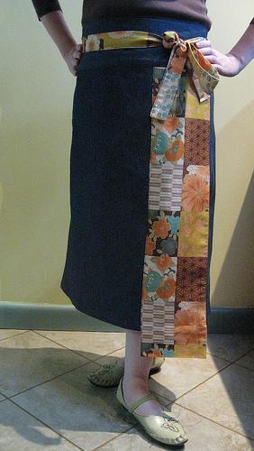 kimono housewrap skirt