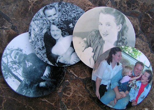Generations Photo Coasters from Old CDs Make:
