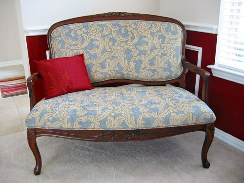 finished settee
