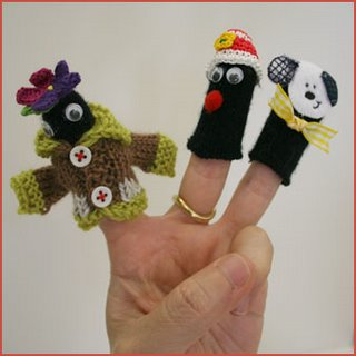 finger puppets from one glove