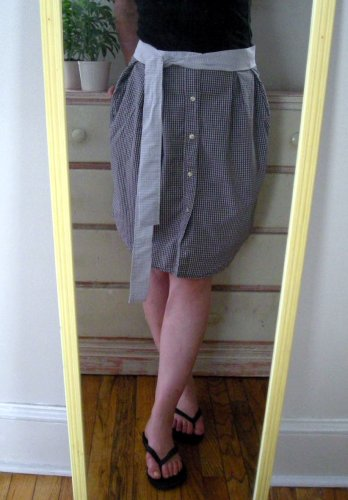 men's shirt refashion skirt
