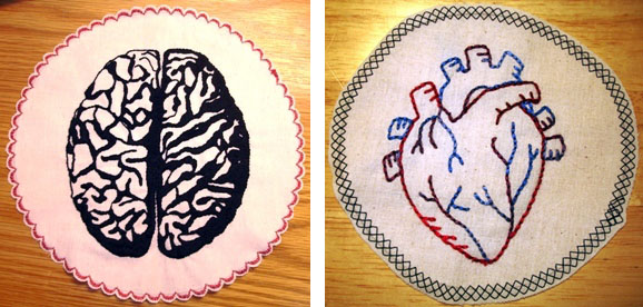 anatomy embroidered patches