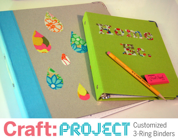 CRAFT Project: Customized 3-Ring Binders | Make: