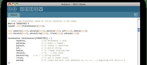 Bitlash arduino command line shell make