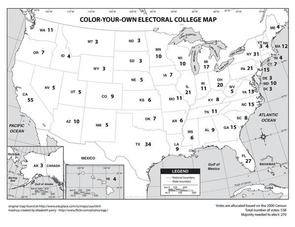Color Your Own Electoral College Map | Make: