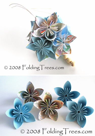 Folding Trees Shares A Two Part Tutorial For Making These Elegant Japanese Flower Balls Called Kusudama