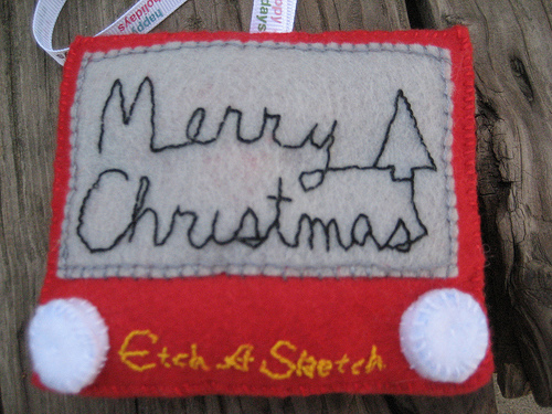 etch a sketch ornament