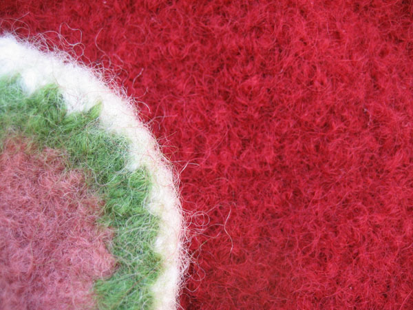 felted bag close up
