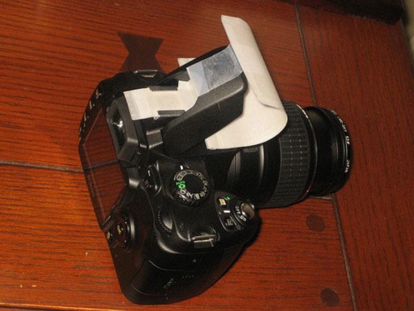 DIY: Cheap on-camera flash diffuser   Make: