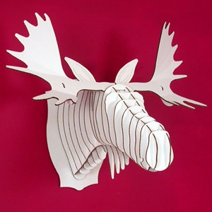 Cardboard animal trophies make cardboardmooseheadg maxwellsz