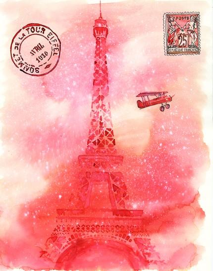 Sam Eiffeltower Watercolor