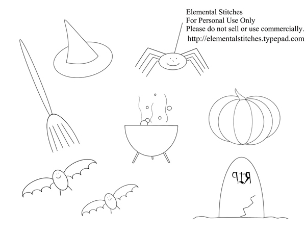 Free Halloween Embroidery Patterns Make