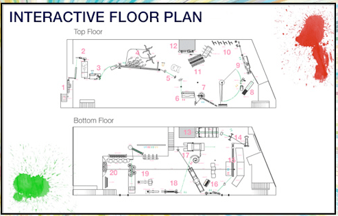 Ok Go Rube Goldberg Machine Interactive Floor Plan Make