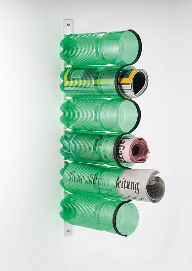 plastic bottle magazine rack