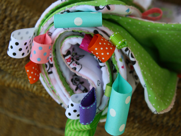 Tag Happy Baby Blanket Step9B