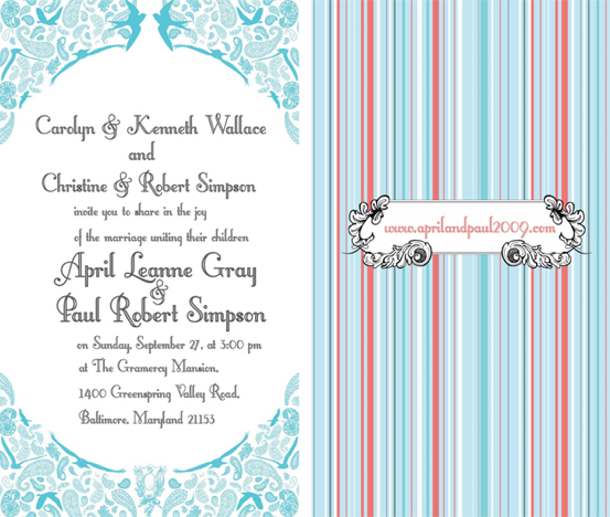 Aprilpaul Wedding Invites