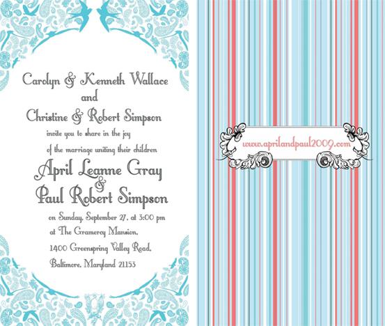 Aprilpaul Wedding Invites